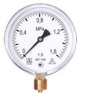 Манометр технический МТ-100 - Мц Багория