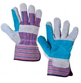 Перчатки спилковые комбинированные Докер с усиленной ладонью - Ward