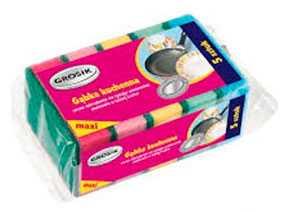 Губка для мытья посуды поролоновая Grosik 5 шт - Grosik