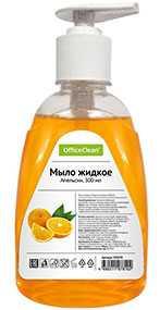 Мыло жидкое OfficeClean Апельсин, с дозатором, 300 мл (Россия)