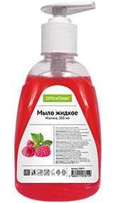Мыло жидкое OfficeClean Малина, с дозатором, 300 мл (Россия)