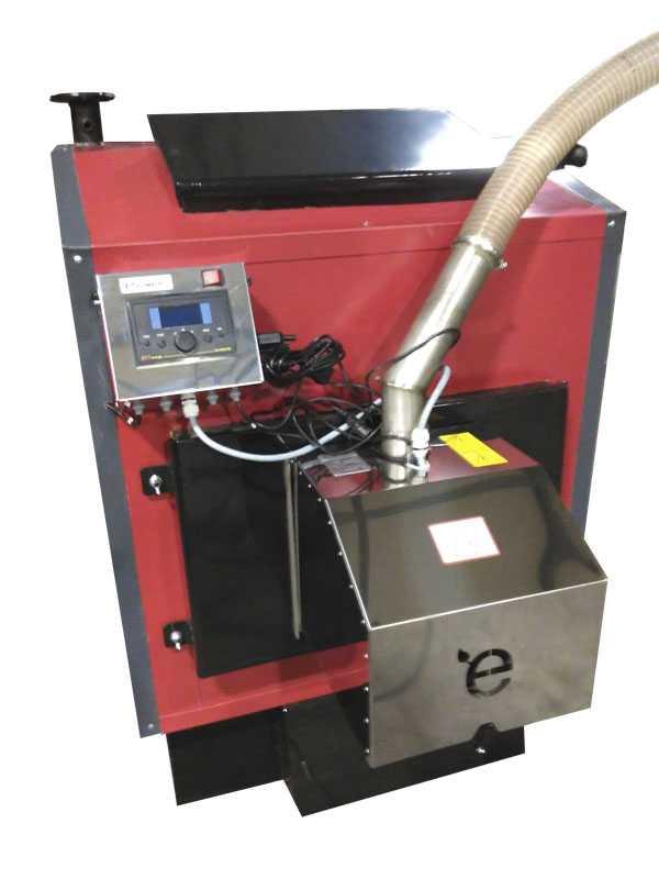 Котел двухконтурный на твердом топливе КСТБ-95 с терморегулятором и блоком управления (контроллер) - МЕРКУРИЙ