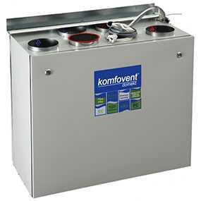Вентиляционная установка пластинчатая с двойным теплообменником KOMFOVENT DOMEKT RECU 450 - AMALVA (Литва)