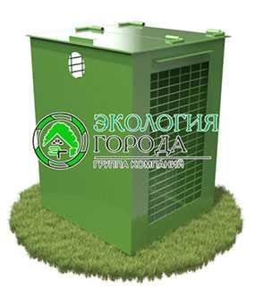 Контейнер для сбора ПЭТ-бутылок 0.9 м³ - ЗМК Экология города