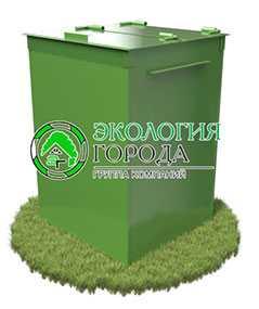 Контейнер для сбора ТБО с крышкой 0.9 м³ - ЗМК Экология города