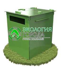 Контейнер для сбора бумаги с крышкой 0.75 м³ - ЗМК Экология города