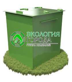 Контейнер для сбора ТБО с крышкой 0.75 м³ - ЗМК Экология города