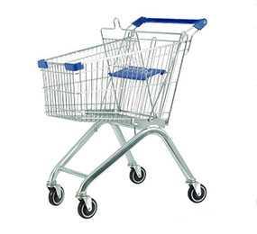 Тележка покупательская с детским сиденьем 100 литров - Carteno