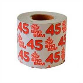 Бумага туалетная БиоБум 45 из вторичного волокна, однослойная, со втулкой - АМИГУС