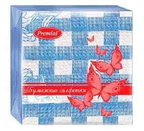 Салфетки бумажные Premial Снежинка 24х24 см, 50 шт - Premial (Россия)