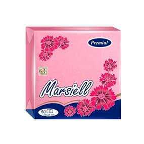 Салфетки Marsiell 24 х 24 см, декоративные, двухслойные, пастельных тонов, 50 шт - Бумфа Групп