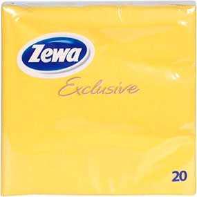Салфетки бумажные Zewa желтые, трехслойные, 33х33 см, 20 шт - SCA Hygiene Products