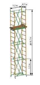 Вышка-тура Спектр-12 (площадка 1,2х0,7 м) 3 секция h = 4.7м