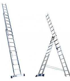 Лестница трехсекционная 5306, h=168/251/336 см