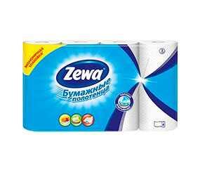 Полотенца бумажные кухонные Zewa 4 рулона, двухслойные из вторичного волокна - ЭсСиЭй Хайджин Продактс Раша