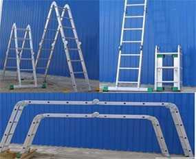 Лестница алюминиевая шарнирная (2*4+2*5) Т445