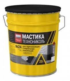 Мастика гидроизоляционная битумная холодная МГТН №24, ведро 20 кг - ТехноНИКОЛЬ