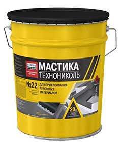 Мастика приклеивающая Вишера для рулонов №22, ведро 20 кг - ТехноНИКОЛЬ