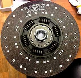Диск сцепления МАЗ-4370 Зубренок ведомый (D-362мм, d-38мм) под КПП СААЗ-3206 1878001501