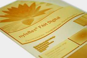 Фотополимерная цифровая пластина для флексографской печати nyloflex® FAH Digital (толщина пластины=2,54 мм) - FLINT GROUP