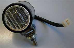 Фара противотуманная МАЗ, ПАЗ круглая под штекер (провод L 150мм, 24В) 244.3743