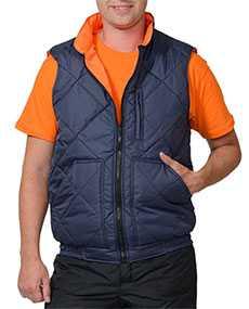 Жилет ЕВРОПА , цвет - темно-синий, подкладка Таффета - оранжевая