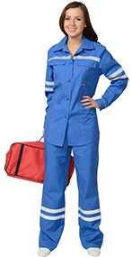 Костюм женский летний Скорая помощь (куртка,брюки), арт. 05566, цвет - васильковый