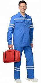 Костюм мужской летний Скорая помощь (куртка, брюки), арт. 05568, цвет - васильковый