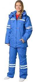 Костюм женский зимний Скорая помощь (куртка, полукомбинезон), арт. 05561, цвет - васильковый