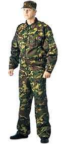 Костюм ФРЕГАТ для охранника (куртка, брюки), КМФ зелёный