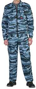 Костюм ФРЕГАТ для охранника (куртка, брюки), КМФ серый вихрь