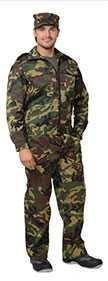 Костюм ВЫМПЕЛ для охранника (куртка, брюки), КМФ зеленый