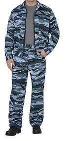 Костюм ВЫМПЕЛ для охранника (куртка, брюки), КМФ серый вихрь