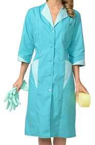 Халат женский Марлен, цвет - бирюзовый со светло-бирюзовым