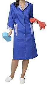 Халат женский Марлен-2, цвет - васильковый с полоской