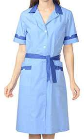 Халат женский Классика, цвет - голубой с темно-синим