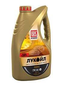 Моторное масло Лукойл Люкс cинтетическое API SN/CF 5W-40 4л - ЛЛК-Интернешнл