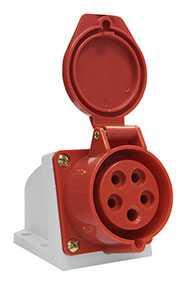 Розетка 115 стационарная ОУ 3Р+PE+N 16А 380В IP44