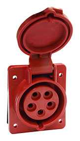 Розетка 415 стационарная СУ 3Р+PE+N 16А 380В IP44