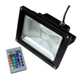 Прожектор светодиодный с пультом BR-FL-20W-RGB IR24B (Black, AC220V) - Arlight