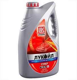 Масло моторное полусинтетическое ЛУКОЙЛ СУПЕР API SG/CD 5W-40, 4 л - ЛЛК-Интернешнл