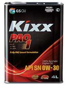 Масло моторное KIXX PAO 1 API SN, 4 л - ЛЛК-Интернешнл