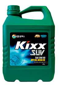 Масло моторное синтетическое KIXX SUV 5W-40 API SN/CF, 4 л - ЛЛК-Интернешнл