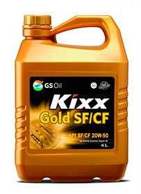 Масло моторное KIXX GOLD API SF/CF 20W-50, 4 л - ЛЛК-Интернешнл