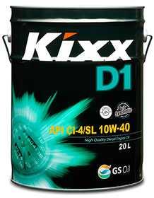 Масло моторное дизельное KIXX D1 API CI-4/SL 10W-40, 20 л - ЛЛК-Интернешнл
