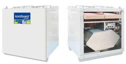 Вентиляционная установка пластинчатая с двойным теплообменником KOMFOVENT DOMEKT RECU 400 - AMALVA (Литва)
