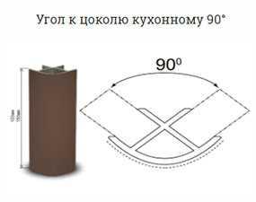 Угол к цоколю кухонному 90° - Зовпласт