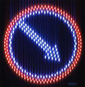 Знак дорожный светодиодный Объезд препятствия - Амониер ООО