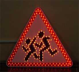 Знак дорожный светодиодный Дети - Амониер ООО