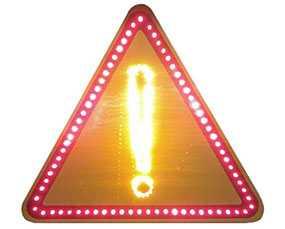 Знак дорожный светодиодный Прочие опасности - Амониер ООО